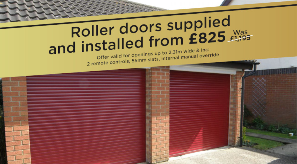 Roller doors supplied and installed from £825 (was £1,195)